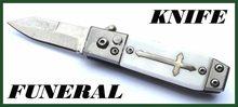 High Life Malý vystřelovací nůž do boku ve tvaru rakve