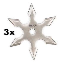 """No NAME Vrhací hvězdice """"Silver 6"""" šesticípá (Chladné zbraně) + pouzdro ZDARMA 3x"""