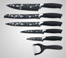 Royalty Line Royalty Line 6-dílná sada nožů se škrabkou potažených antiadhezní vrstvou RL-F5W-BLK