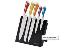 Royalty Line Royalty Line Sada 5 laserem ostřených nerezových nožů RL-MG6C s magnetickým stojanem