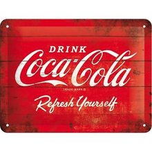 Plechová cedule - Coca Cola Červené logo