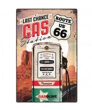 Plechová cedule – Route 66 Gas Station