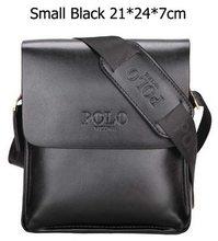 POLO Vicuna Pánská taška z eko kůže Italy style černá