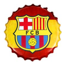 Premier League Plechová cedule FC Barcelona 40 cm