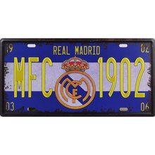 Premier League Plechová cedule Real Madrid