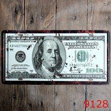 Retro Plechová cedule 100 Dollars