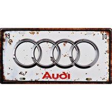Retro Plechová cedule Audi 1910