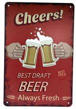 Retro Plechová cedule Best Draft Beer