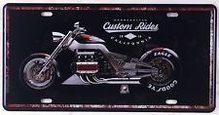 Retro Plechová cedule Custom Rides