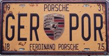 Retro Plechová cedule Ferdinand Porsche