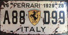 Retro Plechová cedule Ferrari 1929
