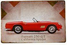 Retro Plechová cedule Ferrari 250GT California