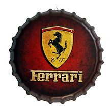 Retro Plechová cedule Ferrari 40 cm