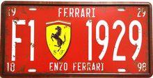 Retro Plechová cedule Ferrari F1