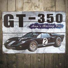 Retro Plechová cedule GT-350