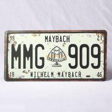 Retro Plechová cedule Maybach