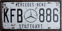 Retro Plechová cedule Mercedes Benz