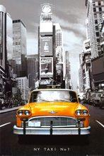 Retro Plechová cedule NY Taxi No 1