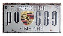 Retro Plechová cedule Porsche 1948
