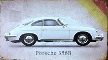 Retro Plechová cedule Porsche 356B