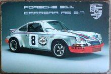 Retro Plechová cedule Porsche 911
