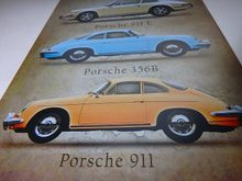 Retro Plechová cedule Porsche