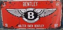 Retro Plechové cedule Walter Owen Bentley