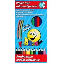 St-majewski Pastelky bezdřevé, flexibilní 12 barev