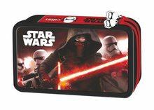 Star Wars Dvoupatrový penál s vybavením v designu Star Wars červený