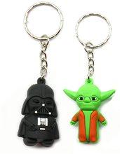 Star Wars Přívěsek na klíče Star Wars Yoda / Darth 3D