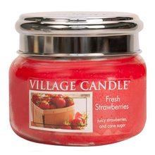 Village Candle Svíčka ve skleněné dóze Village Candle Čerstvé jahody, 312 g