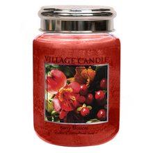 Village Candle Svíčka ve skleněné dóze Village Candle Červené květy, 737 g