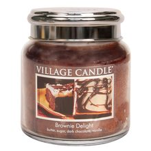 Village Candle Svíčka ve skleněné dóze Village Candle Čokoládový dortík, 454 g