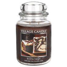 Village Candle Svíčka ve skleněné dóze Village Candle Čokoládový dortík, 737 g