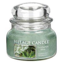 Village Candle Svíčka ve skleněné dóze Village Candle Eucalyptus a máta, 312 g
