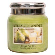 Village Candle Svíčka ve skleněné dóze Village Candle Hruškový fizz se zázvorem, 454 g