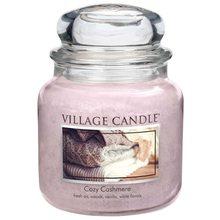 Village Candle Svíčka ve skleněné dóze Village Candle Kašmírové pohlazení, 454 g