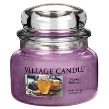 Village Candle Svíčka ve skleněné dóze Village Candle Med a pačuli, 312 g