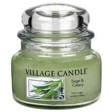 Village Candle Svíčka ve skleněné dóze Village Candle Šalvěj a celer, 312 g