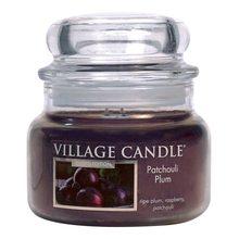 Village Candle Svíčka ve skleněné dóze Village Candle Švestka a pačuli, 312 g