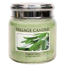 Village Candle Svíčka ve skleněné dóze Village Candle Svěží šalvěj, 454 g