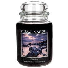 Village Candle Svíčka ve skleněné dóze Village Candle Tajemný obsidián, 737 g