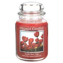 Village Candle Svíčka ve skleněné dóze Village Candle Tulipány, 737 g