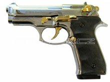 Voltran Plynová pistole Ekol Firat Compact chrom gold s rytinou cal.9mm