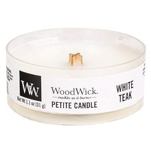 WoodWick Drobná svíčka WoodWick Bílý teak, 31 g