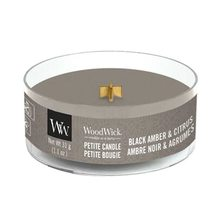 WoodWick petite Black Amber & Citrus