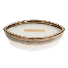 WoodWick Svíčka keramická dekorativní váza WoodWick Hřejivá vlna, 368.5 g