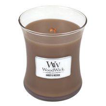 WoodWick Svíčka oválná váza WoodWick Ambra a kadidlo, 275 g