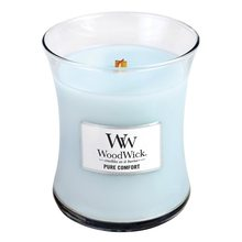 WoodWick Svíčka oválná váza WoodWick Čistota a pohodlí, 275 g