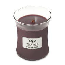 WoodWick Svíčka oválná váza WoodWick Pikantní ostružina, 275 g